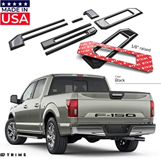 BDTrims Domed 3D Raised Tailgate Letters Compatible with 2018-2020 F-150 Models (Black)