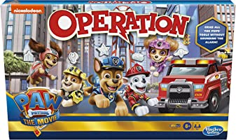 Operation Game: Paw Patrol The Movie Edition Board Game for Kids Ages 6 and Up, Nickelodeon Paw Patrol Game for 1 or...