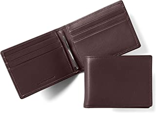 Leatherology Men's Bifold Wallet with Spring Money Clip - RFID Available