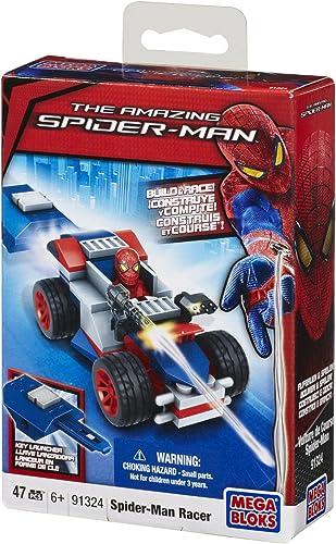 nuevo estilo Mega Bloks 91324 Spiderman Spider-Man Racer Key Launcher 47pc Buildable Buildable Buildable Playset  Mercancía de alta calidad y servicio conveniente y honesto.
