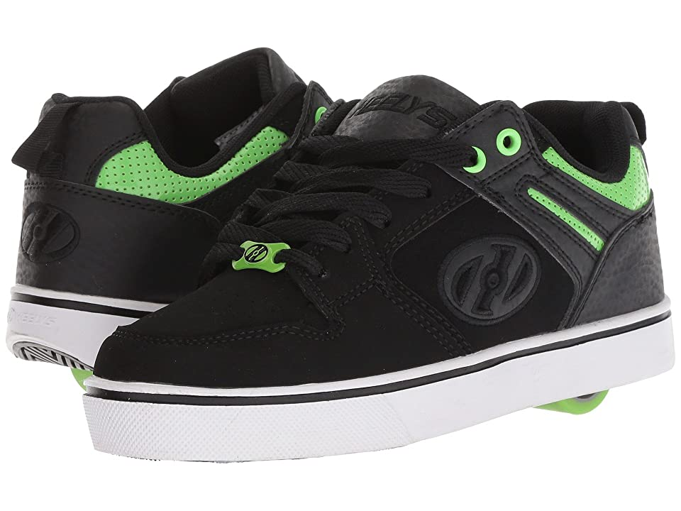 Heelys Motion 2.0 (Little Kid/Big Kid/Adult) (Black/Bright Green) Boys Shoes