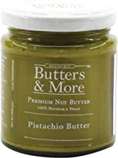 Butters & More Vegan Natural Pistachio Butter (200G) Single Ingredient & Unsweetened Premium Nut Butter.