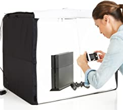AmazonBasics Portable Foldable Photo Studio Box with LED Light – 25 x 30 x 25 Inches