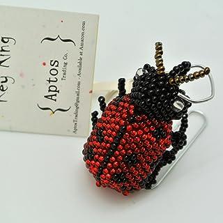 سلسلة مفاتيح LADYBUG رائعة يدوية الصنع \ حقيبة ظهر \ حلية محفظة \ حلقة مفاتيح