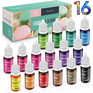 Food Coloring Dye DaCool Cake Color Set 16 Color Liquid Food Grade Tasteless Vibrant Color for Baking Cookie Icing Cake De...