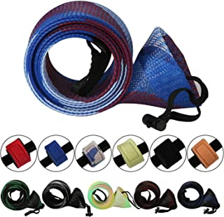 Sponsored Ad - Rod Cover Sleeve,6 Pack Fishing Rod Socks for Fly Spinning Casting Sea Rod, Braided Mesh Fishing Pole Glove...