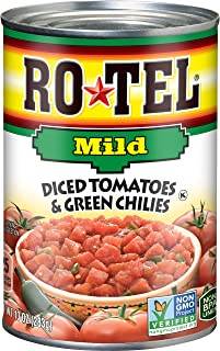 Best ROTEL Mild Diced Tomatoes and Green Chilies, 10 Ounce, 12 Pack Review