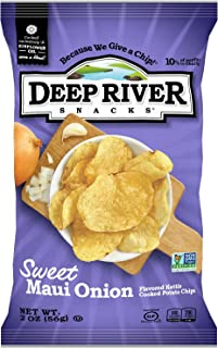 Deep River Snacks Sweet Maui Onion Kettle Cooked Potato Chips, 2-Ounce (Pack of 24)