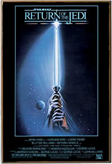 Silver Buffalo SW6336 Star Wars Return of The Jedi Movie Poster Wood Art Wall Plaque, 13 x19 inches