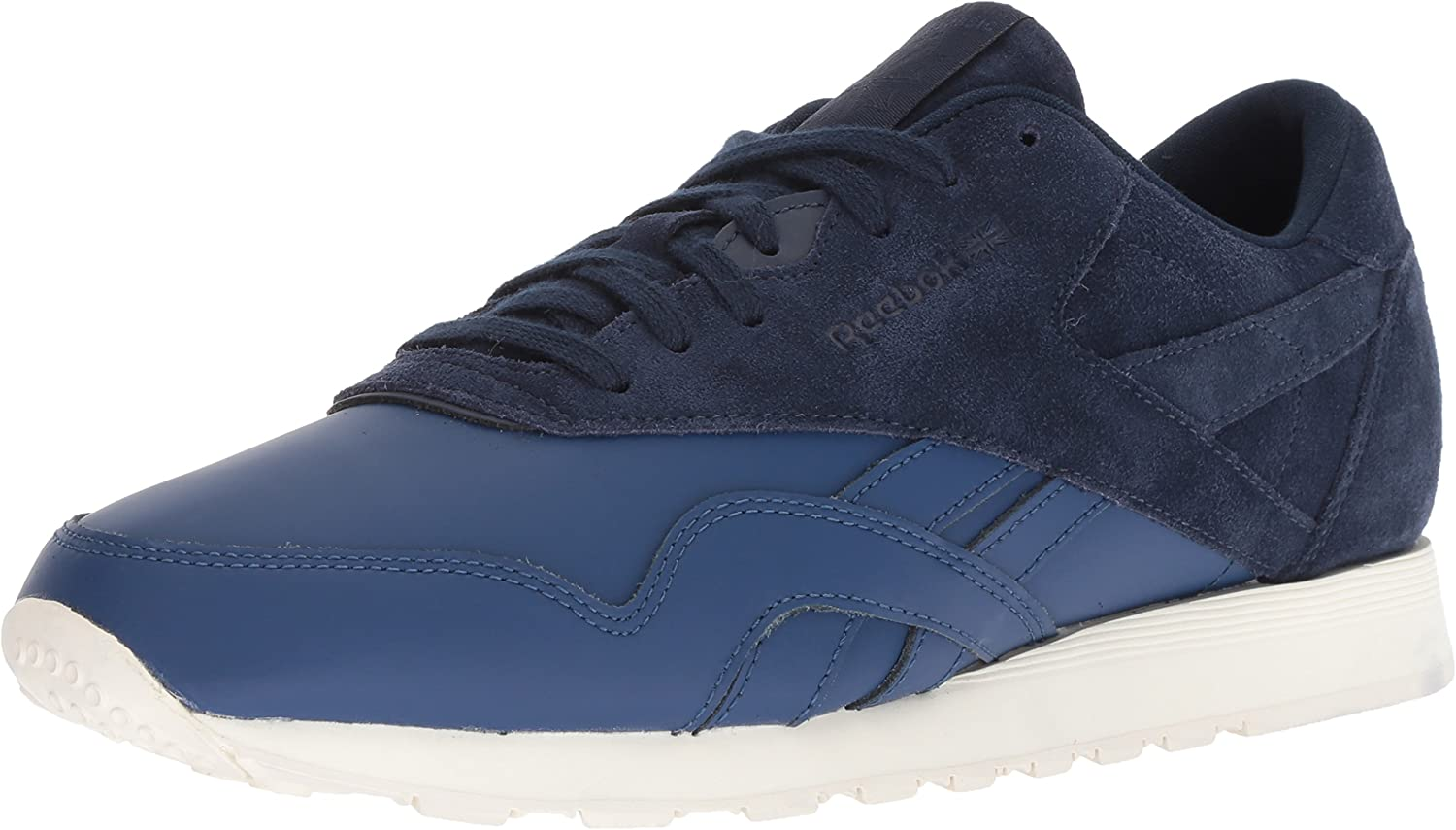Reebok Men's CL Nylon AS Sneaker, Washed bluee Collegiate Natural, 13 M US