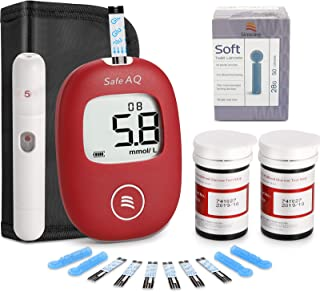 Diabetes Testing Kit – Blood Glucose Monitoring Kit – Testing Kit for Sugar Monitoring – 50 Strips Included – in Mmol/L by...