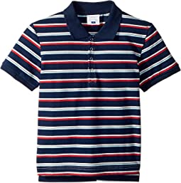 Toobydoo Navy Stripe Polo (Infant/Toddler/Little Kids/Big Kids)