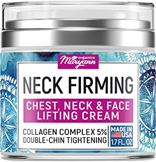 Neck Firming Cream - Anti Wrinkle Cream - Made in USA - Saggy Neck TIghtener & Double Chin Reducer Cream - Collagen & Reti...