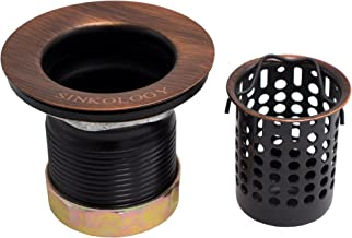 Sinkology TB20-AC Sink Jr. Strainer Bar Drain with Removable Basket in Antique Copper
