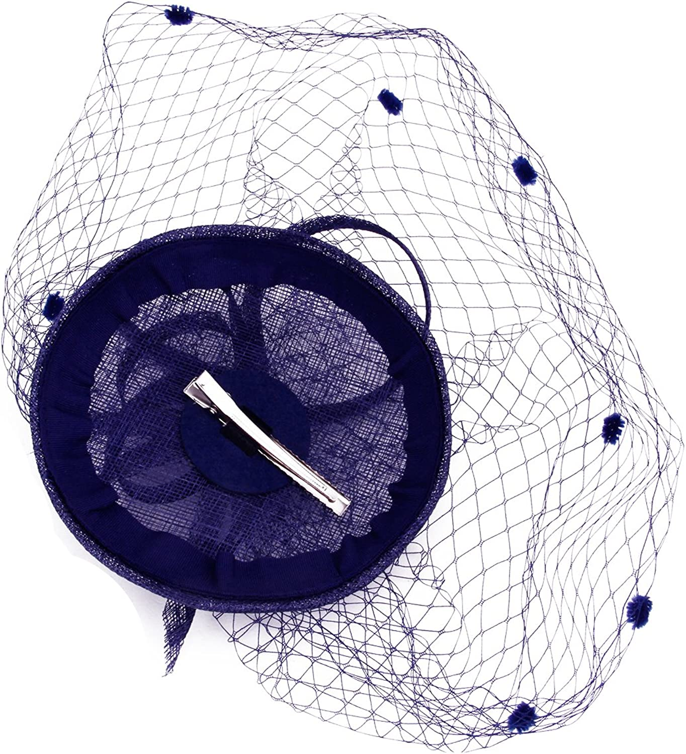 Ruixia Women Mesh Veil Fascinator Hat Feather Net Hat Pillbox Hat Ascot Party Hat Wedding Hair Clip Hairpin Hat Veil Flower Derby Hat with Clip Hairband Girls Cocktail Tea Party Headband