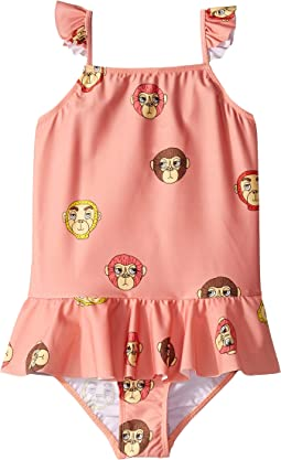 Monkey Skirt Swimsuit (Infant/Toddler/Little Kids/Big Kids)
