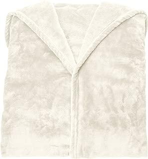 AmazonBasics - Manta polar con mangas y bolsillo para los pies, 150 x 180 cm, Crema
