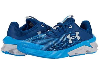 Under Armour Kids Charged Scramjet 3 (Big Kid) (Graphite Blue/Electric Blue/Halo Gray) Boy