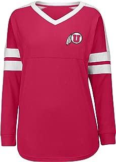 J America NCAA Utah Utes Women's Gotta Have It Cheer Tee, Medium, Red/White