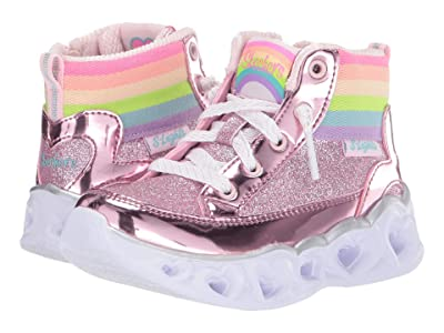 SKECHERS KIDS Heart Lights 20272N (Toddler) (Pink) Girl