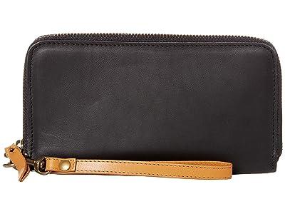 ABLE Alem Continental Wallet (Black/Cognac) Wallet Handbags