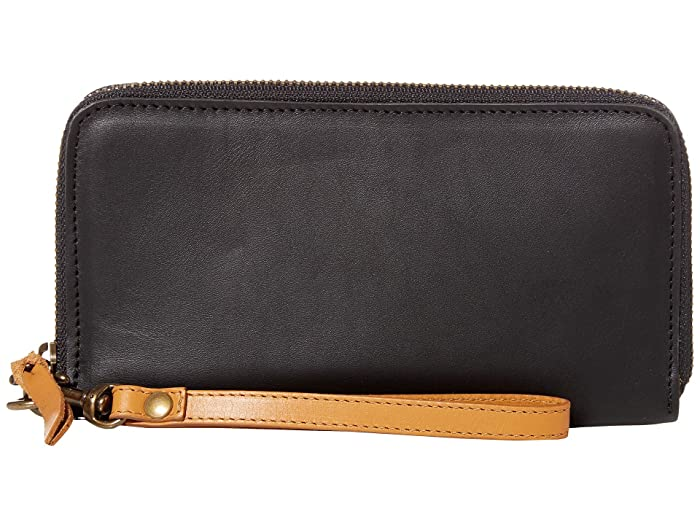 ABLE  Alem Continental Wallet (Black/Cognac) Wallet Handbags