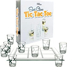 Fairly Odd Novelties FON-10182 SHOT GLASS TIC TAC TOE Fun Party Board Drinking Game for Two/Couples, One Size, Clear