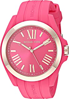 Michael Kors Women's Bradshaw Quartz Silicone Strap, Pink, 0 Casual Watch (Model: MK2745)