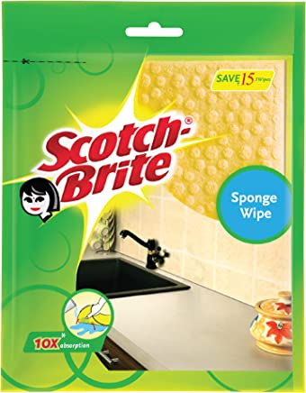Scotch-Brite Sponge Wipe, Pack of 3 (Color May Vary)