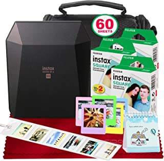 Fujifilm Instax Share SP-3 Smartphone Printer (Black) with 3-Pack Instant Film Deluxe Bundle