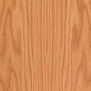 Red Oak Wood Veneer Plain Sliced 2'x8' PSA 9505(Peel and Stick) Sheet (Renewed)