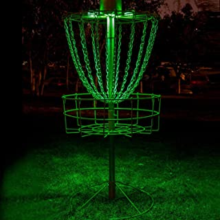 Set of 2 LED Lights for Flying Disc Golf Basket, Waterproof, Remote Control, Remote Controlled and velcroes to Attach (Basket Not Included)