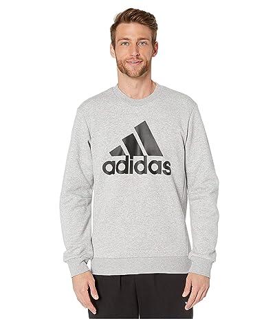 adidas Must Have Badge of Sport Fleece Crew (Medium Grey Heather) Men