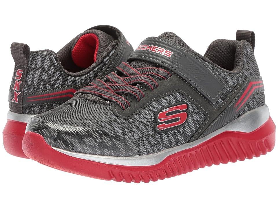 SKECHERS KIDS Turboshift (Little Kid/Big Kid) (Charcoal/Red) Boys Shoes