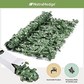 NatraHedge Decorative Artificial Ivy Leaf Green Hedge Roll 94