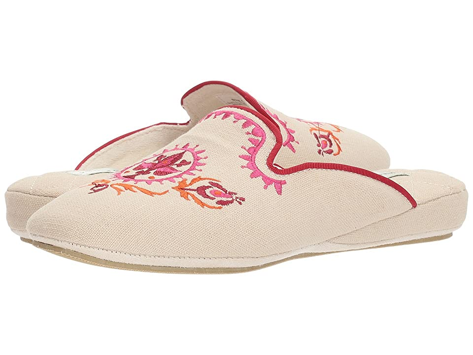 Patricia Green Linen Rosa (Pink/Red) Women's Slippers