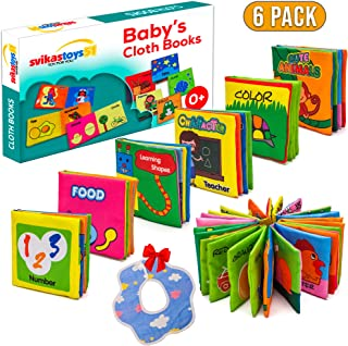 Crincle Book For Infants & Soft Baby Book, Baby Crinkle Book, Baby First Book NonToxic Fabric Soft Cloth Book, Educational Baby Book For Toddler, Baby Toy, Girl, Boy 0-6-12 Month, Gift Box With Bonus