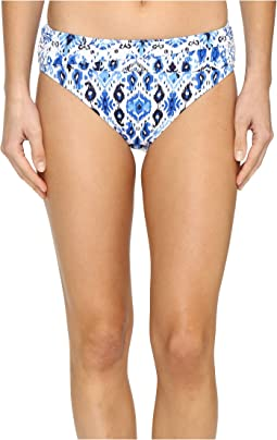 Tommy Bahama Ikat High-Waist Sash Bikini Bottom