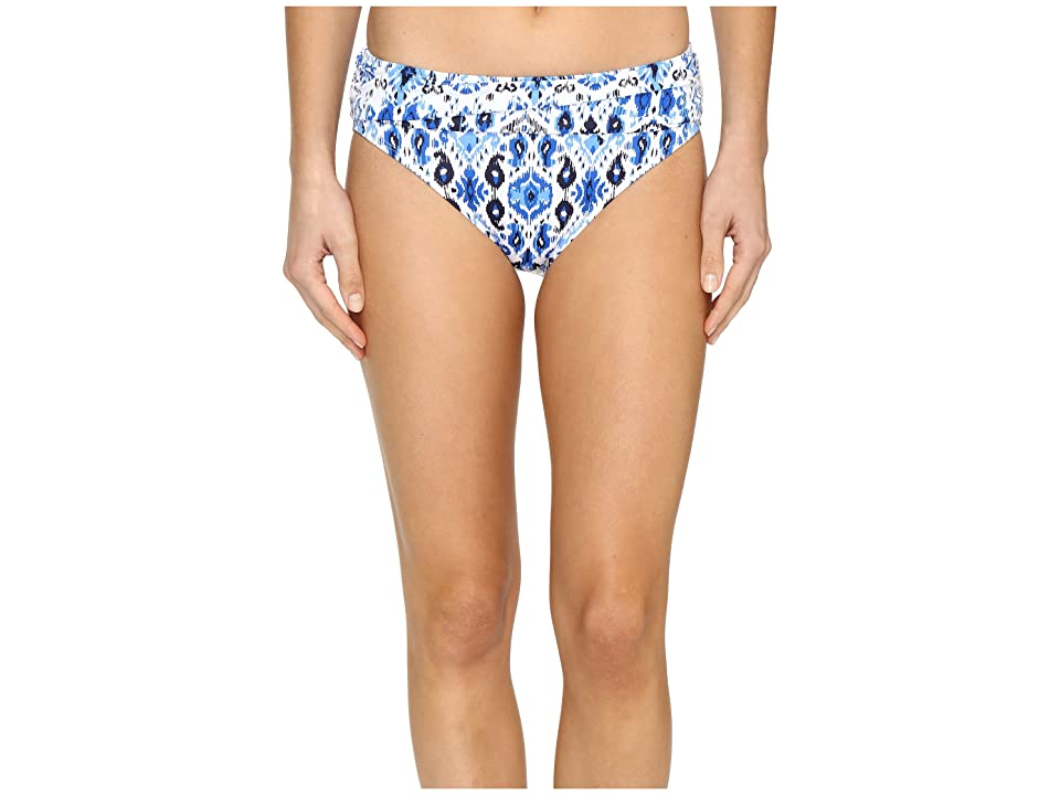 Tommy Bahama Ikat High-Waist Sash Bikini Bottom (Vivid Blue) Women