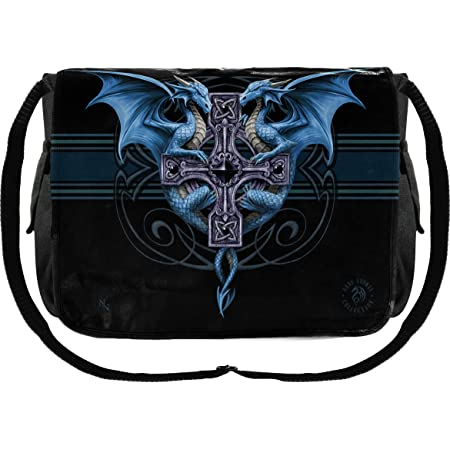 Bad To The Bone 'Hell Rider' Messenger Bag 3D Anne Stokes BBMB03