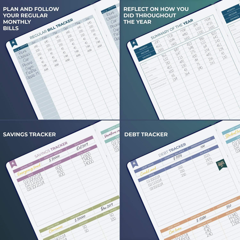 5.3 x 7.7 Smaller than A5 dunkelblau Clever Fox Haushaltsbuch 2.0 Compact