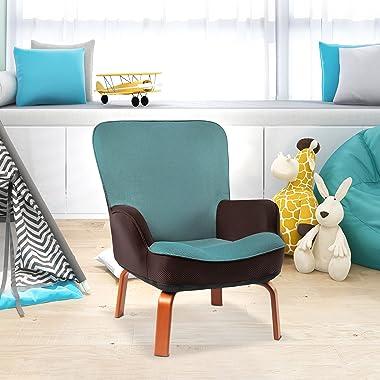 Bigroof Kids Sofa Chair, Ergonomically Designed Kids Sofa, Sturdy Wooden Leg Children's Sofa Seat, Cushioned Sofa Suitabl