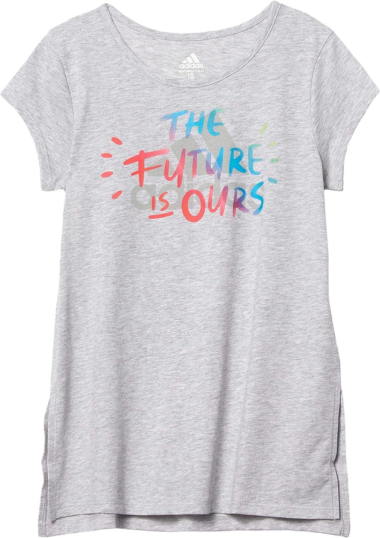 adidas Girls' Short Sleeve Overseas parallel import regular item Tee Chicago Mall T-Shirt Side Vent