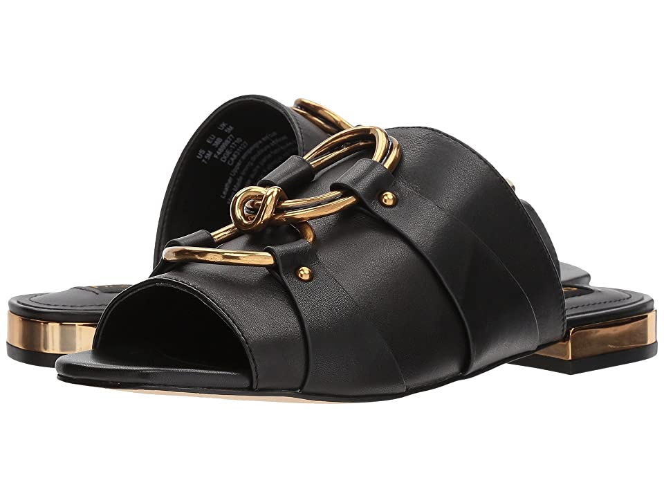 Donna Karan Rae Slide (Black Sheep Nappa Leather) Women