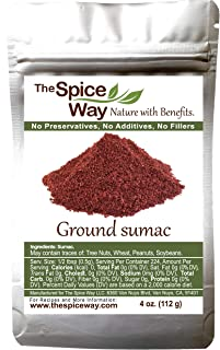 The Spice Way Pure Sumac - Pure 100% Sumac Spice ,Freshly Ground, No Salt 4 oz