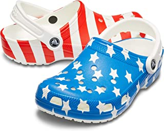 Crocs Men's and Women's Classic American Flag Clog | 4th of July Crocs Clogs
