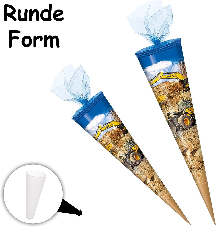 passend f/ür Schult/üte 15 // 35 // 50 // 70 // 85 cm ALLE Gr/ö/ßen alles-meine.de GmbH personalisierte 3D B/änder Blumen Zuckert/üte .. Schleife lustige Eulen auf Schaukel Goldbuch