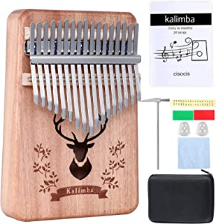 Kalimba Gift kits,Portable Thumb Piano with Songbook,Musical Instrument (Reindeer-Natural)