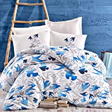 Eponj Home Double Quilt Cover Set - Duvet Cover: 220 x 220 cm Pillowcase: 45 x 155 cm (1 Piece)
