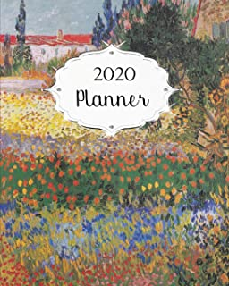 2020 Planner: Van Gogh Daily, Weekly & Monthly Calendars | January through December | Flowering Garden with Path